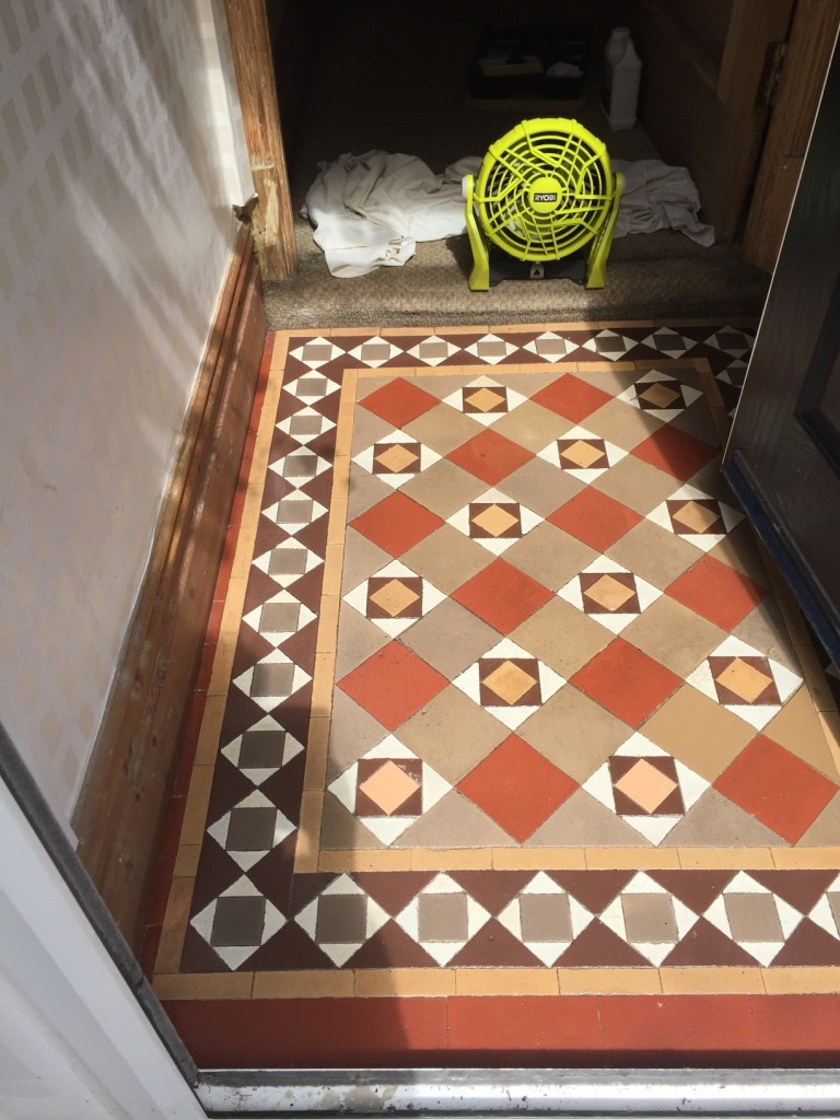 Edwardian Tiled Floor After Cleaning