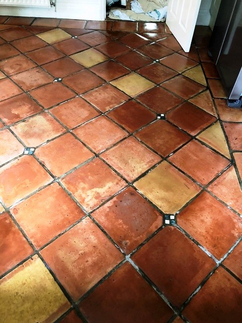 Mexican Terracotta Floor After Cleaning